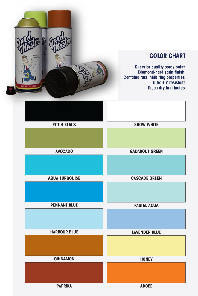 Yard Master Color Chart