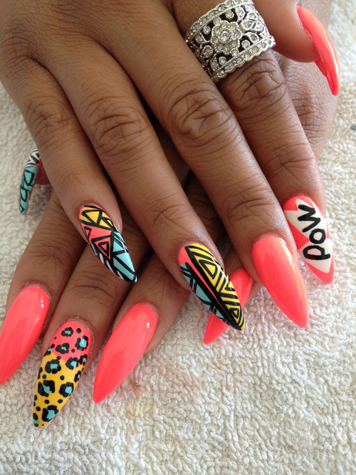 Nail Designs Pointy Nails Nail Art Designs