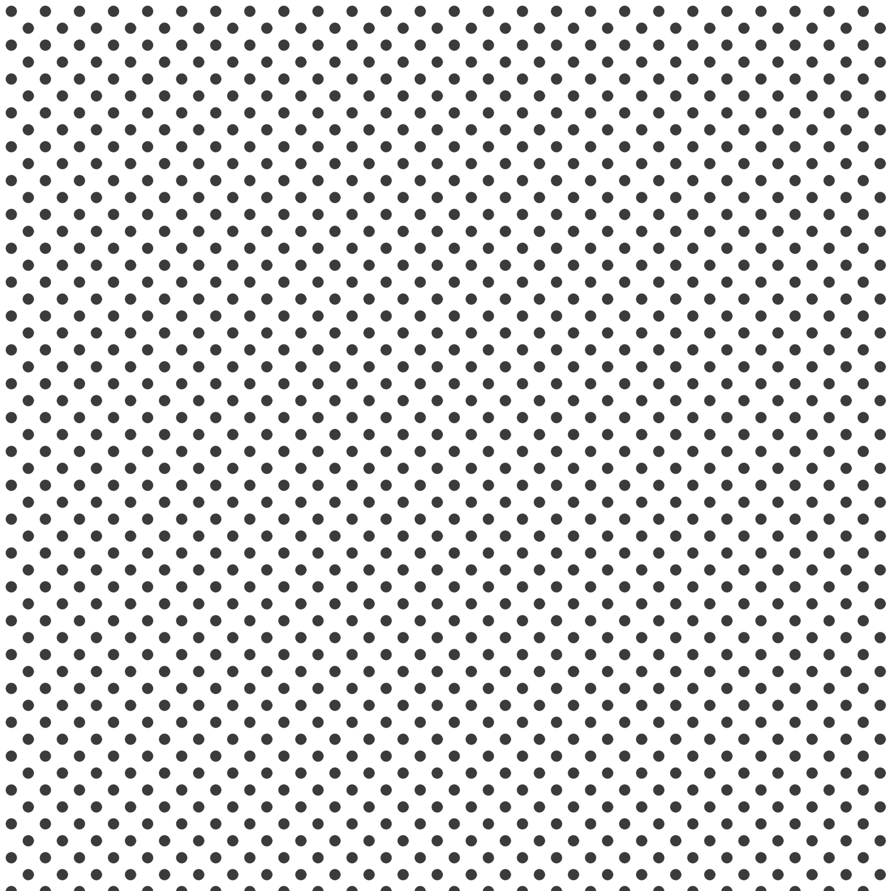 Black polka dot pattern