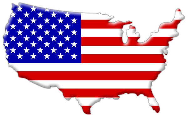 The United States of America. In Map Form.