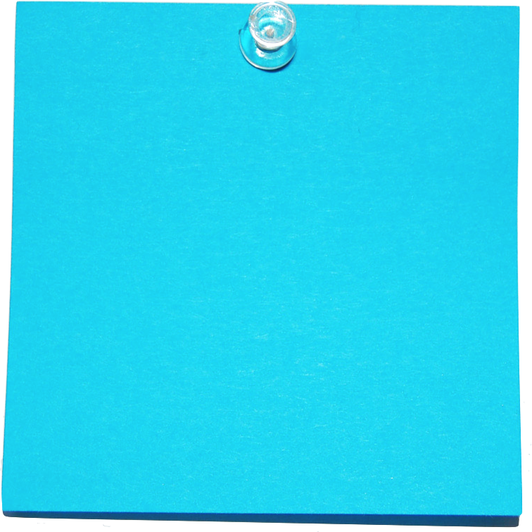 Blue Post It on imgarcade