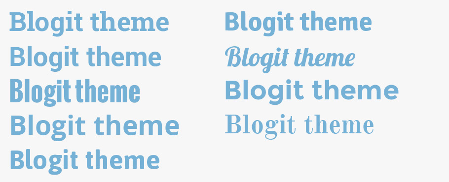 Blogit Comes With 9 Contemporary Header Font Styles