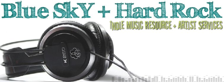 Blue Sky + Hard Rock Headphone Header Logo