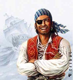 Jake, el líder de los piratas de Nunca Jamás para colorear