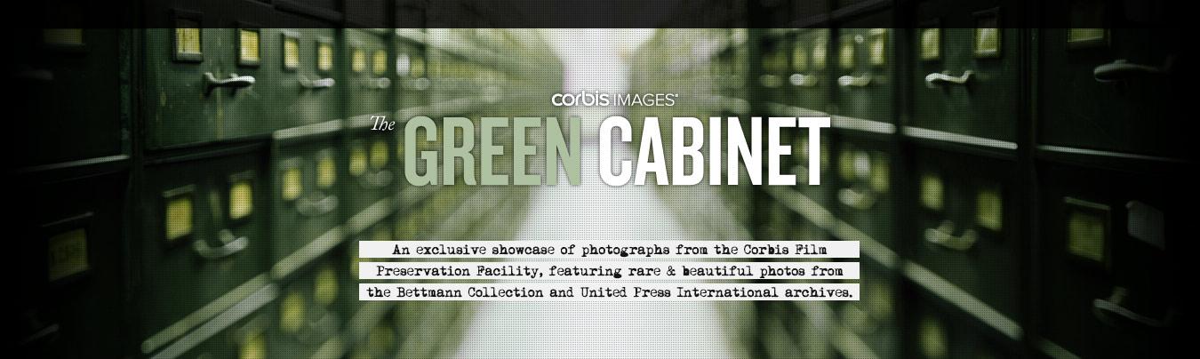 Corbis Images Green Cabinet