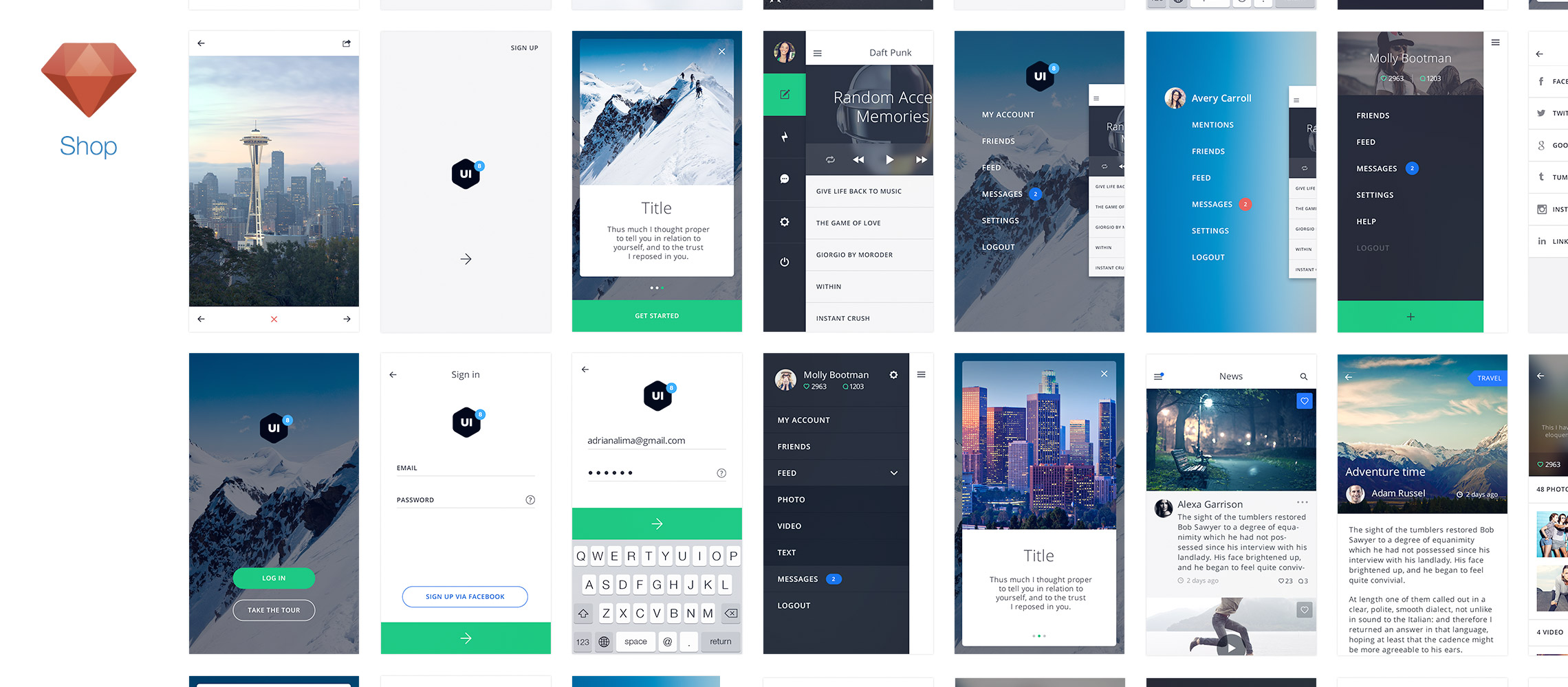 Tethr - Best iOS UI Kit (380+ Templates & Elements) | Sketchapp TV