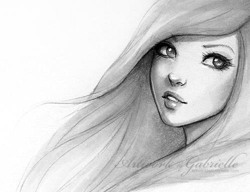 A Beautiful Cartoon Girl Face Deusa Afrodite...