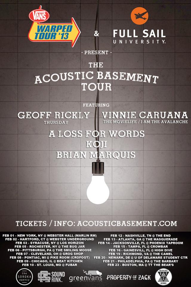 koji more to play acoustic basement tour news alternative press