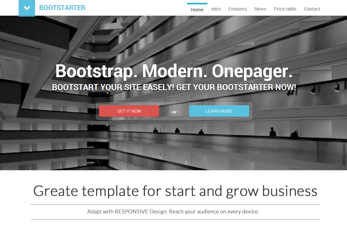 Bootstrap 2 to bootstrap 3 html upgrader migration online service free bootstarter premium bootstrap template baditri Image collections