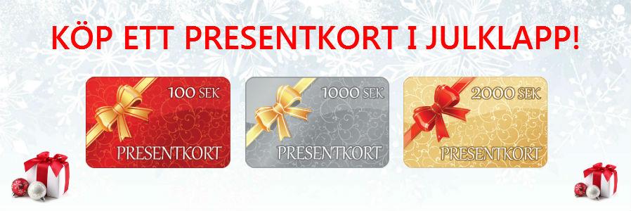 Köp presentkort i julklapp